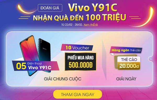 """5 lý do Vivo Y91C được 'săn lùng"""" tại Thế Giới Di Động"""