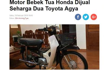 Honda Dream 450 triệu của Hưng Sắt gây sốt báo ngoại
