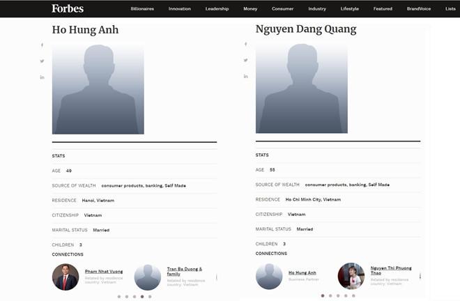 Sở hữu 65 nghìn tỷ, cặp đôi Hồ Hùng Anh và Nguyễn Đăng Quang vào danh sách tỷ phú Forbes?