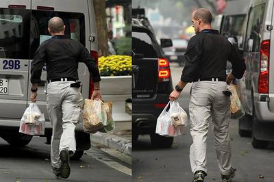 Bữa trưa chớp nhoáng của mật vụ Mỹ bên cổng khách sạn Metropole