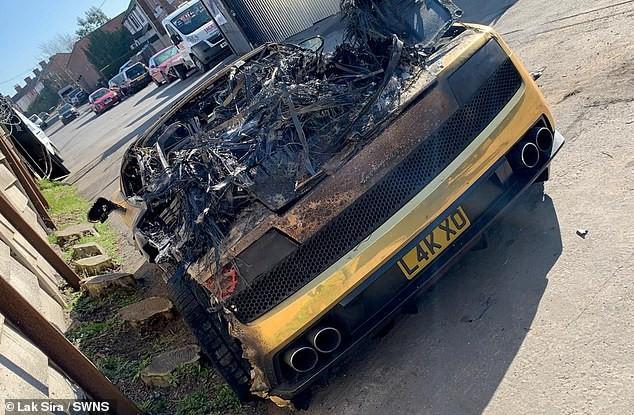 Lamborghini Gallardo mạ vàng gần 4 tỷ mới bảo dưỡng bốc cháy ngùn ngụt