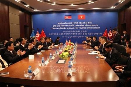 Đoàn lãnh đạo cấp cao Triều Tiên thăm Hải Dương