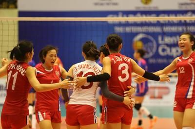 Tuyển Triều Tiên vào chung kết giải bóng chuyền quốc tế tại Bắc Ninh