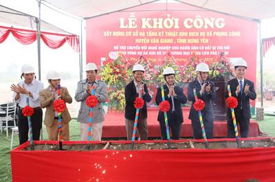 Hưng Yên: Khởi công dự án đất dịch vụ xã Phụng Công