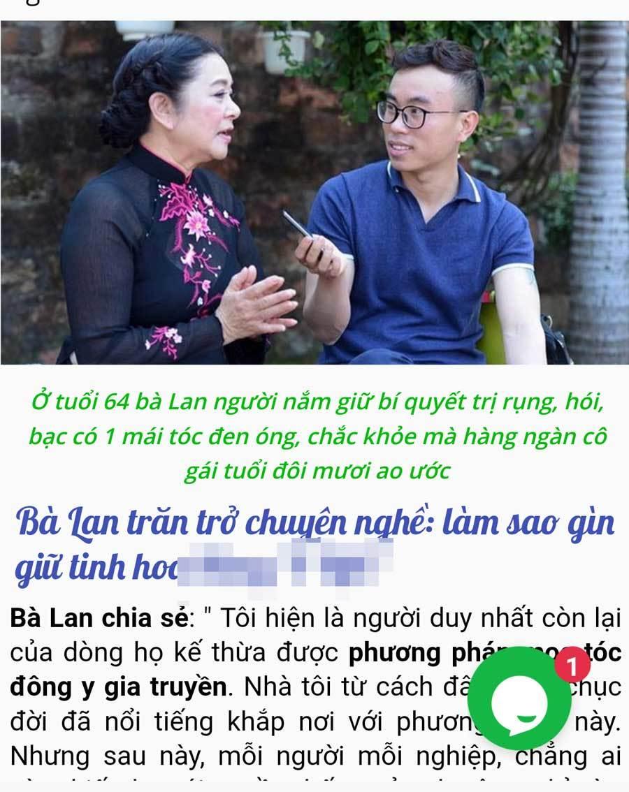 'Ni cô Huyền Trang' bức xúc khi bị lấy hình ảnh quảng cáo thuốc trị hói