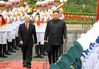 Hình ảnh lễ đón trọng thể Chủ tịch Triều Tiên tại Hà Nội
