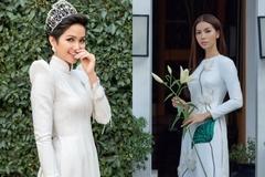 H'Hen Niê, Minh Tú khoe sắc tinh khôi trong tà áo dài trắng