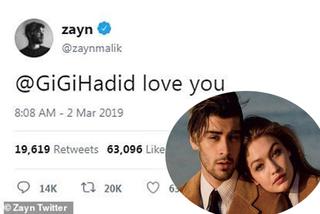 Mạng xã hội náo loạn vì Zayn Malik công khai vẫn còn yêu Gigi Hadid