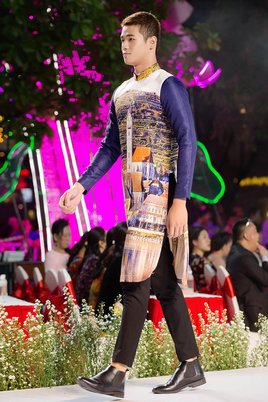 Nhật Dũng mang 'khát vọng vươn xa' đến lễ hội áo dài