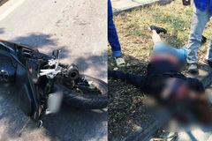 Mô tô tông văng xe máy, 1 người chết, 2 người bị thương ở Sài Gòn