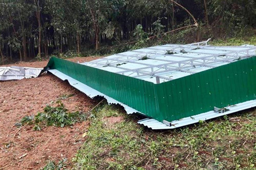 Lốc xoáy cuốn bay 40 mái nhà ở Nghệ An