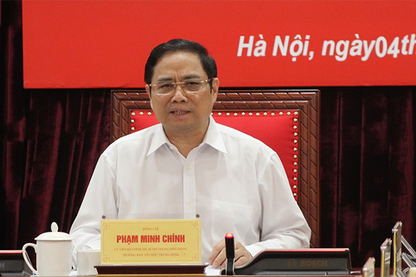 nhân sự,đại hội 13,Trưởng Ban Tổ chức TƯ,Phạm Minh Chính,công tác cán bộ