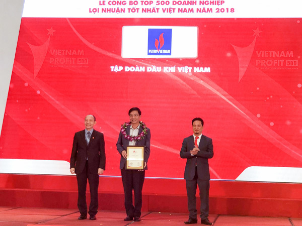 PVN dẫn đầu Bảng xếp hạng Profit500