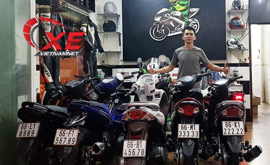 xe máy 2 thì,biển ngũ quý,xe biển đẹp,Phan Phúc Hậu