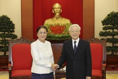 Tổng bí thư, Chủ tịch nước tiếp Chủ tịch Quốc hội Lào