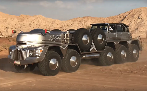 Tỷ phú Ả Rập độ xe quân sự 10 bánh cực khủng