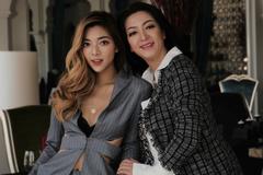 Con chưởng môn phái Vịnh Xuân khoe sắc bên mẹ Hoa hậu 1992 Thanh Xuân