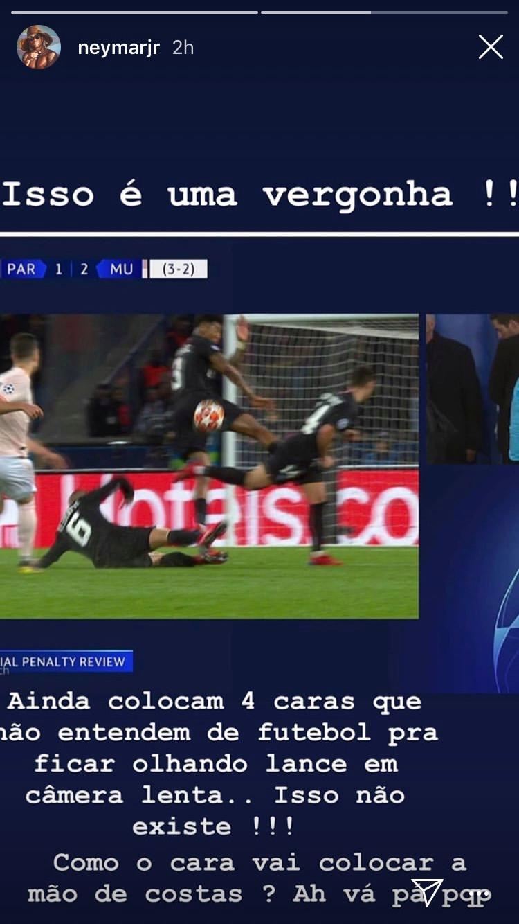 Cay cú thua MU, Neymar đăng đàn nguyền rủa trọng tài