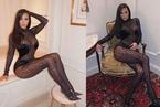 Kim Kardashian gây choáng ở Tuần lễ thời trang Paris với trang phục da báo xuyên thấu