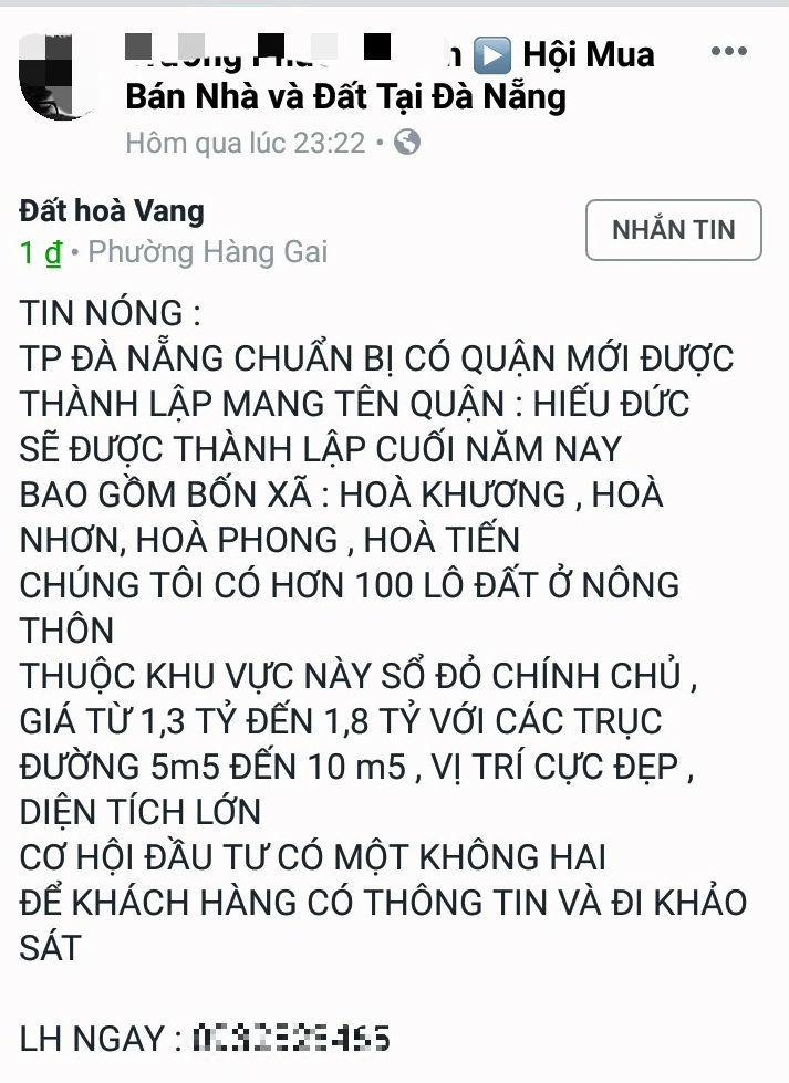 sốt đất,Đà Nẵng