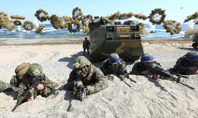 Triều Tiên,Mỹ,Hàn Quốc,tập trận quân sự,tình hình Triều Tiên,tập trận Mỹ Hàn