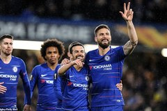 "Thắng ""3 sao"", Chelsea đặt 1 chân vào tứ kết Europa League"