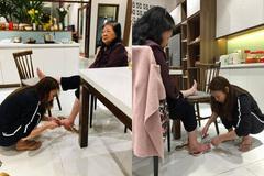 Mỹ Tâm 'đốn tim' fan với hình ảnh cắt móng chân cho mẹ ngày 8/3