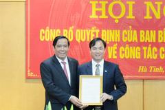 Ban Bí thư chuẩn y Phó Bí thư Thường trực Tỉnh ủy Hà Tĩnh
