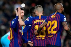 Messi đá trận 800, Barca xây chắc ngôi đầu