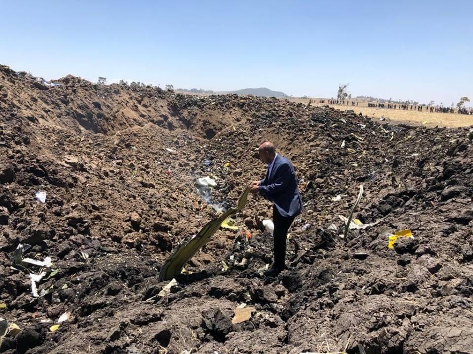 Rơi máy bay ở Ethiopia, toàn bộ 157 người chết
