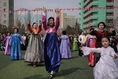 Không khí nhộn nhịp trong ngày bầu cử ở Triều Tiên