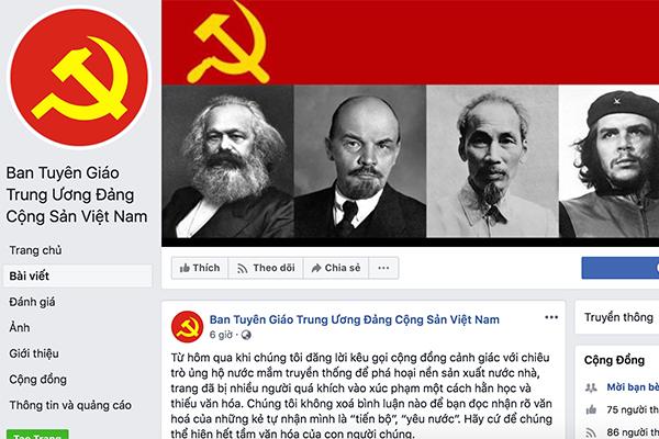 Facebook,mạo danh,Ban Tuyên giáo TƯ'