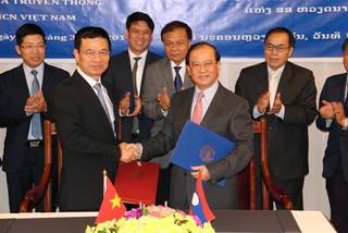 Việt Nam và Lào ký thỏa thuận hợp tác về TT&TT