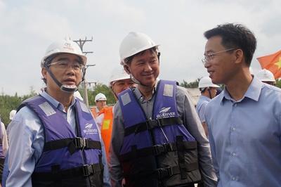 Bí thư Nguyễn Thiện Nhân thị sát dự án chống ngập 10.000 tỷ