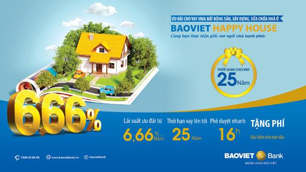 Sở hữu ngôi nhà mơ ước cùng BaoViet Happy House