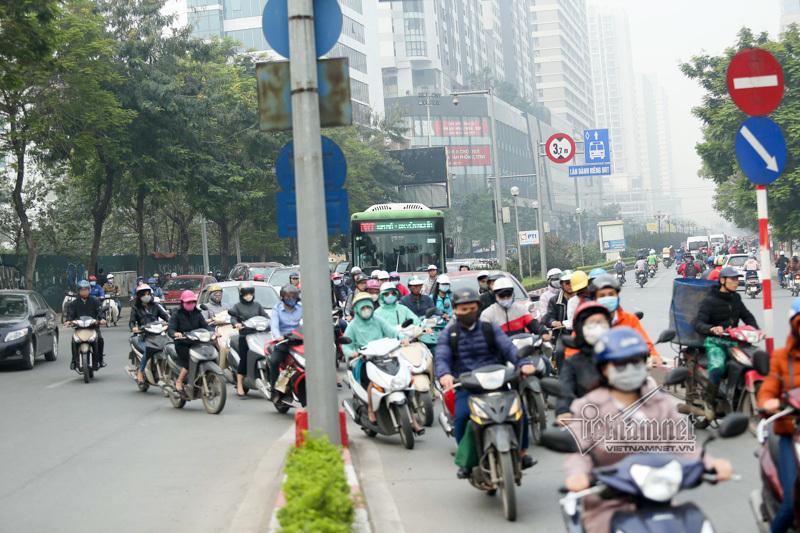 Cấm xe máy,cấm xe máy ở hà nội