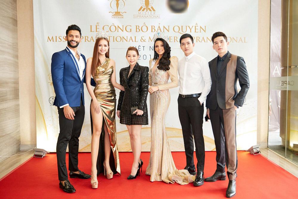 Ngọc Châu diện đầm sexy đọ sắc bên tân Hoa hậu Siêu quốc gia