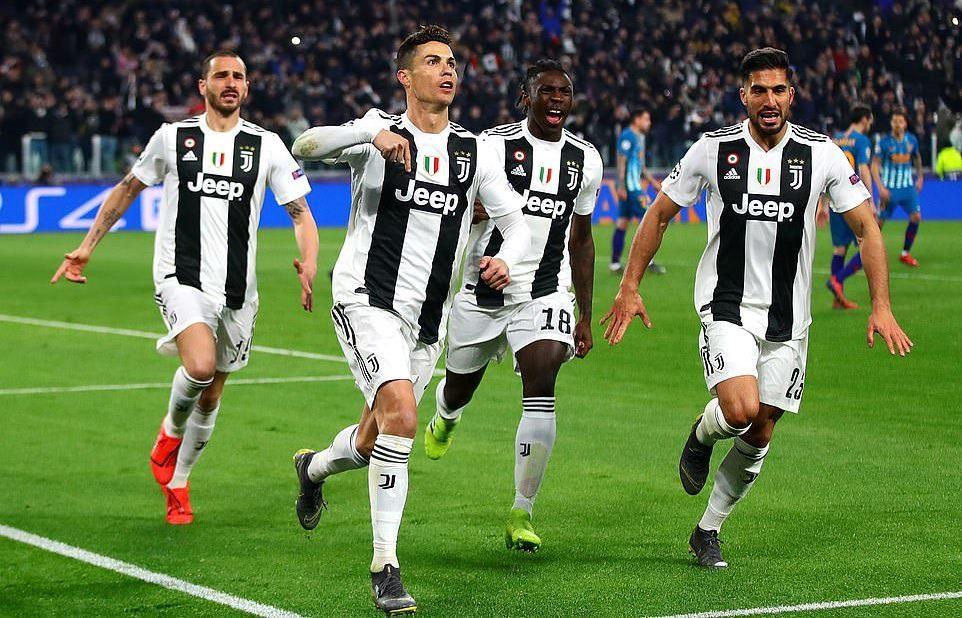 Juventus vs Atletico,Ronaldo