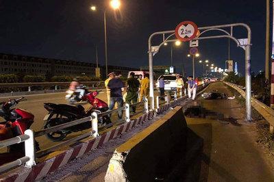 Thanh niên chết thảm vì dải bê tông chình ình giữa cao tốc