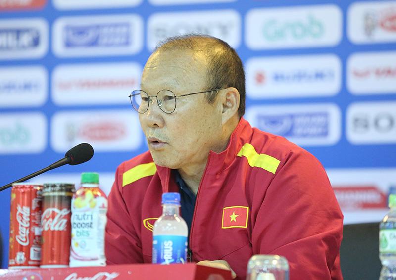 HLV Park Hang Seo: 'Tôi chịu áp lực lớn với chỉ tiêu HCV SEA Games'