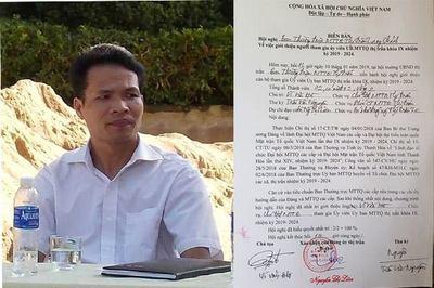 Thanh Hóa: Cho thôi chức Chủ tịch MTTQ thị trấn chửi bới lãnh đạo