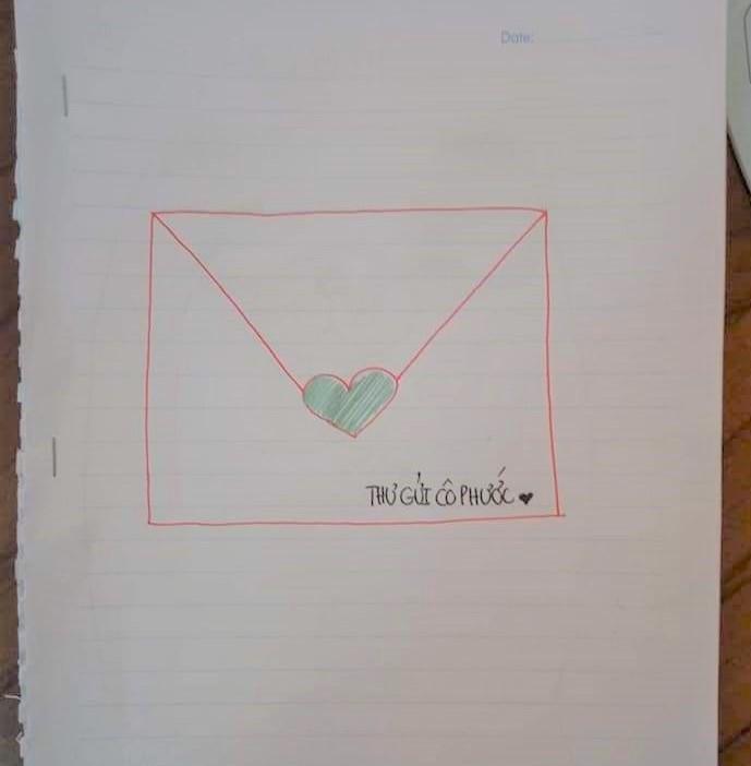 'Tâm thư' dễ thương của học trò Vĩnh Long xin cô cho kiểm tra lại