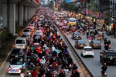 Cấm xe máy ở Hà Nội