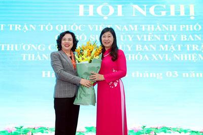 Hà Nội có nữ Chủ tịch Ủy ban Mặt trận Tổ quốc