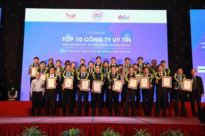 Công bố Top 10 Công ty uy tín ngành Bất động sản năm 2019