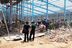 Sập tường nhà xưởng công ty may, 6 người chết