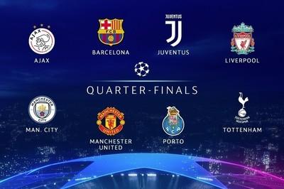 Lịch thi đấu vòng tứ kết, bán kết Champions League 2018/19