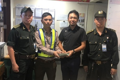 Chiếc túi màu nâu khách Trung Quốc bỏ quên ở sân bay Đà Nẵng