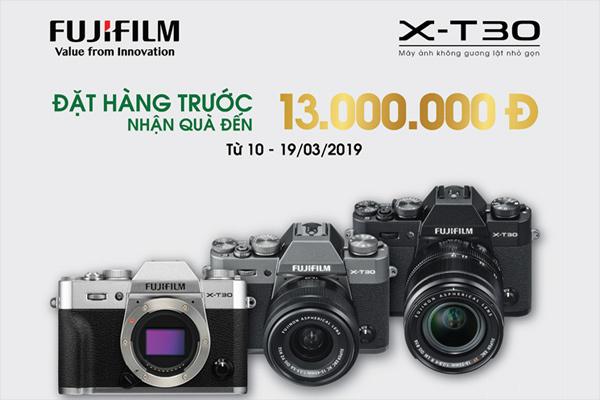 Máy ảnh không gương lật Fujifilm X-T30 đã có thể đặt trước tại VN