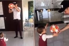 Video Ronaldo tặng bóng cho con gái cực dễ thương